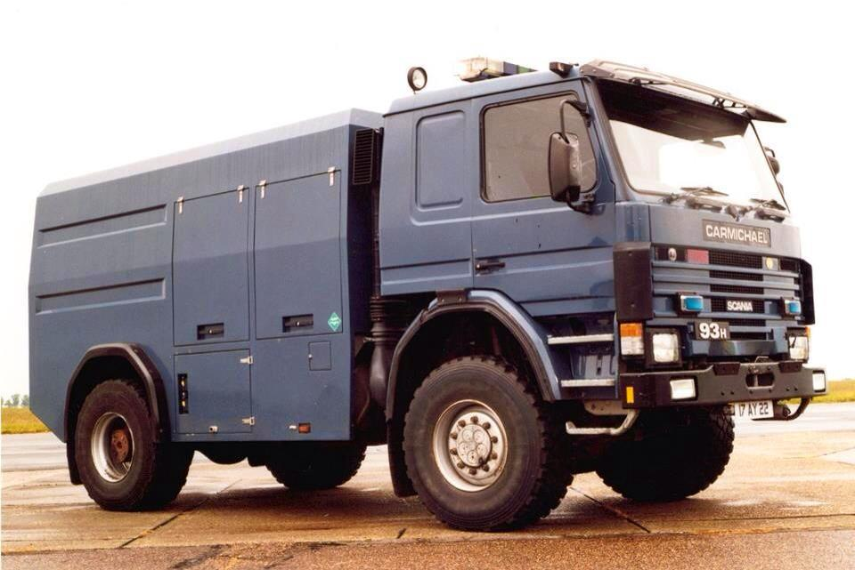 Queens Flight Scania – Helicopter Support  Vehicle